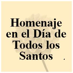 Homenaje en el Día de Todos los Santos